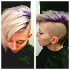 Purple into silver undercut by Sarah Shelton www.strands-of-art.weebly.com
