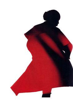 Yohji Yamamoto, American Vogue, September 1987. Photograph by Nick Knight. Design by Peter Saville Associates.