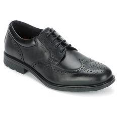 22f6301e069 Men's Essential Details Waterproof Wing Tip - Black Oxford Online, Adidas  Sport, Mens Essentials
