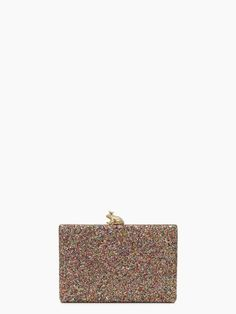 Kissed a Frog multi color glitter clutch with shoulder strap.  Gotta kiss a couple to get to your prince