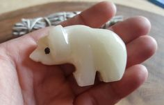 Pakistani Onyx Bear ~ One Small Reiki Infused gemstone bear approx 2 inches long (POB21)
