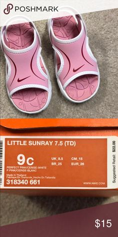 a9156fd256955 Shop Kids  Nike Pink size Sandals   Flip Flops at a discounted price at  Poshmark.