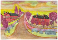 Entrada de Parada de Gonta Pintura a aguarela (cores quentes) Painting, Watercolour Paintings, Watercolor Paintings, Warm Colors, Drawings, Princesses, Main Entrance, Art, Painting Art