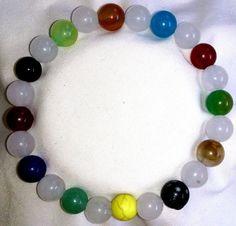 Achat Aventurin Jade Howlith Karneol Kunzit Heilstein Perlen Armband