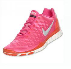 cheap for discount ae846 cc49e Nike Free TR Fit Winter Womens Pink Flash Total Orange Metallic Silver Pink  Ladies, Nike