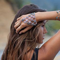 Vienna Silver Hand Bracelet - Nectar Clothing