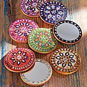 Set of Eight Rajasthani Pocket Mirrors $29.00