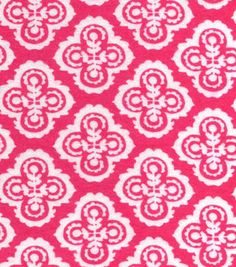Snuggle Flannel Fabric Floral Dasmask Pink
