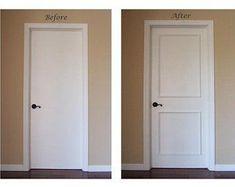 Shop all items (20) Diy Interior Trim Diy Interior Door Makeover Paint & DIY Slab Door Makeover in 2019 | Home improvement | Door makeover ...