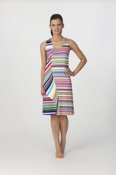 Vestido Egatex verano tirantes modelo Sailing. http://www.perfumeriaelajuar.com/homewear/vestido-mujer--verano/34/