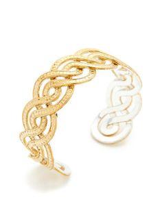 Timor Gold Infinity Twist Cuff Bracelet