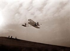 Wright Brothers Glider in Flight