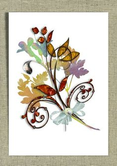 I could make this with acrylic paint & some black puff paint....Flower Bouquet print a4