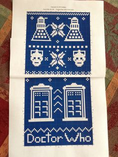 Dr Who fair isle knit pattern! Made with free app StitchSketchLE