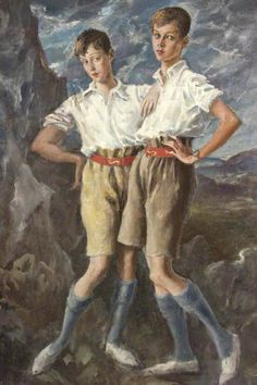 Thomas Francis Jeune and Hanmer Cecil Hanbury by Augustus Edwin John (1926)  For the Gentlemen | ZsaZsa Bellagio - Like No Other