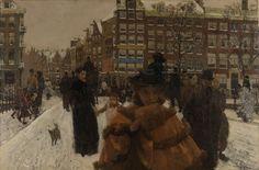 De Singelbrug bij de Paleisstraat in Amsterdam, George Hendrik Breitner, 1896 Rijksmuseum, Amsterdam