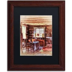 Trademark Fine Art The Heart of the Home Canvas Art by Lois Bryan, Black Mat, Wood Frame, Size: 11 x 14