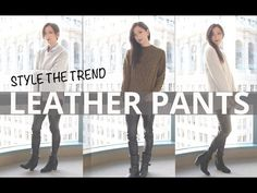 How To Style Leather Pants - Get this look: https://www.lookmazing.com/videos/show/1058?e=1&shrid=431_pin