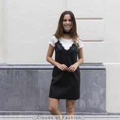 Black leather skater dress ✔️