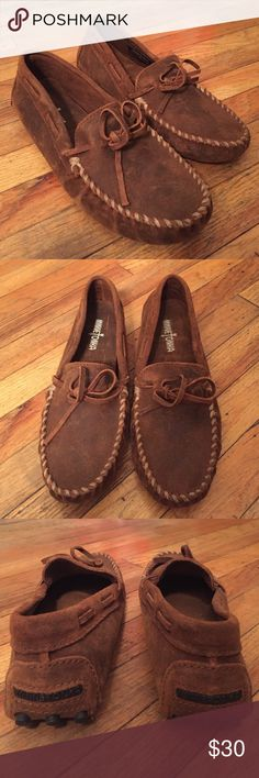 Minnetonka Driving Slippers These driving shoes are made of high quality cowhide and have never been worn. Shoes Loafers & Slip-Ons