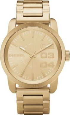 Diesel Watches Franchise 46 Gold - via eBags.com!