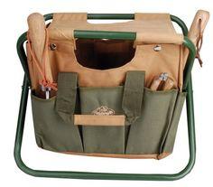 Esschert Design Canvas Tool Bag And Stool Carry All