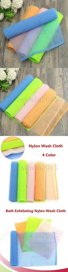 Bath Brushes and Sponges: 4Pcs Exfoliating Nylon Bath Washing Cloth Towel Body Cleaning Scrubbing Shower -> BUY IT NOW ONLY: $99.99 on eBay!