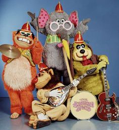 The Banana Splits... Fleegle, Bingo, Drooper and Snorky (I can still hear the theme song in my head!)