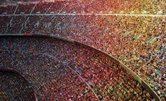 Creating artificial crowd ambience for NHL + stadium atmosphere for soccer players: Football Wall, Barcelona Football, Aerial Images, Sound Design, Illustrations, Sound Effects, Photo Wallpaper, Lake View, Birds In Flight