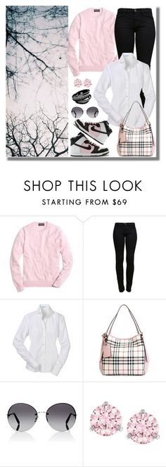 """""""casual wear"""" by gallant81 ❤ liked on Polyvore featuring Brooks Brothers, Cannella, J Brand, Burberry, Oliver Peoples and Swarovski"""