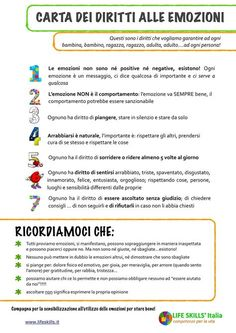Carta Emozioni Colors And Emotions, My Emotions, Coping Skills, Life Skills, Social Service Jobs, Social Media Etiquette, Cooperative Learning, Learning Italian, Yoga For Kids