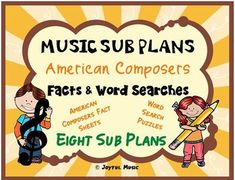 *** $5.00 ***This product is great for DISTANCE LEARNING as well as the elementary Music classroom!Overview: This product includes eight easy Music Sub Plans for 2nd - 6th. Each lesson is built around students learning some facts about a composer. Each includes a word search puzzle using words from ... Music Education Activities, Physical Education, Health Education, Music Sub Plans, Well Trained Mind, Music Classroom, Music Teachers, Teaching Music, Classroom Ideas