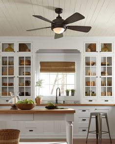 Monte Carlo Vintage Ceiling Fan In Kitchen Lighting