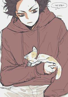 Hitoshi with a cat~ by Ɗαηιєℓℓα~ ฅ^•ﻌ•^ฅ | We Heart It