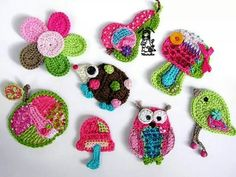 Repeat Crafter Me: E is for Elephant: Crochet Elephant Applique Appliques Au Crochet, Crochet Motif, Crochet Designs, Crochet Patterns, Crochet Amigurumi, Crochet Toys, Knit Crochet, Crochet Animals, Crochet Crafts