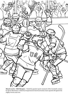 the hockey coloring book dover publications