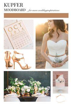 Moodboard Kupfer / Cotter auf Wedding Board