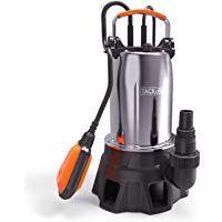 Olibelle Pompe A Eau Submersible 250 W Pompe A Eaux Usees Submersible Pompe Electrique En Acier Inoxydable Pour Vidange Inoxydable Acier Inoxydable Eaux Usees