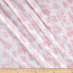 Cotton Baby Rib Knit Floral Pink from @fabricdotcom  This cotton jersey knit fabric has a soft hand and about 25% stretch across the grain. This versatile fabric is perfect for creating children's apparel and t-shirts.