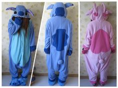 Hot Blue Lilo Stitch Pink Stitch Animal Unisex Adult Cosplay Costume Pajamas | Clothing, Shoes & Accessories, Costumes, Reenactment, Theater, Costumes | eBay!