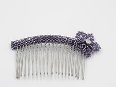 Excited to share this item from my #etsy shop: Purple Flower Hair Comb Flower Hair, Flowers In Hair, Pretty Flowers, Purple Flowers, Natural Hair Care Tips, Natural Hair Styles, Decorative Hair Combs, Braids With Beads, Handmade Hair Accessories