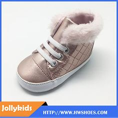 Factory Hot Sale Pink Baby Boots First Walkers Baby Shoes Winter