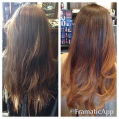 Ombre color melt haircolor using redken blonde dimensions at the junction salon and bar by Megan perry