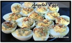 He and She Eat Clean: Clean Eating Alternative to Deviled Eggs? Try the Protein Packed Angeled Eggs!