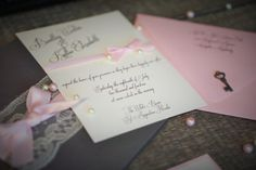 Gorgeous Shabby Chic Gray, Blush Pink and Cream colored Sweet 16 and Quinceanera Invitation Sets