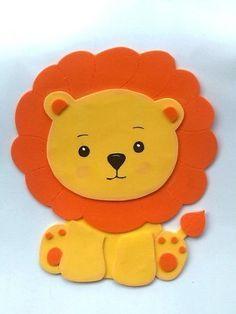 Figuras En Foami Animales De La Selva O Safari - BsF 50,00 en MercadoLibre: Safari Party, Jungle Party, Foam Crafts, Diy And Crafts, Crafts For Kids, Paper Crafts, Jungle Animals, Felt Animals, Jungle Theme Birthday