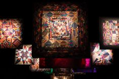 """Missoni Mirroring Patchworks and Optical Illusions"" installation"