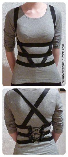 body harness, elastic