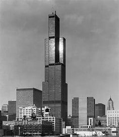 Completed in 1973 in Chicago, United States. Towering over the windy city of Chicago, the Willis Tower (formerly known as Sears Tower) was once the tallest building in the world upon its. Willis Tower, Modern Architecture Design, New York City, Building, Image, Architectural Photography, Chicago Illinois, Construction, New York
