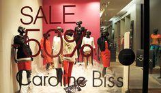 Caroline Biss Plastic SALE Window Display.  More photos: http://thebwd.com/caroline-biss-plastic-sale-window-display/